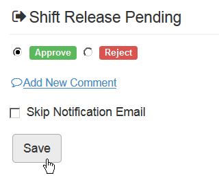 Confirm shift release