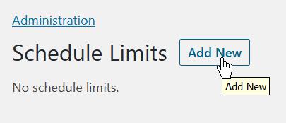 Add a new schedule limit