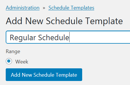 New schedule template form